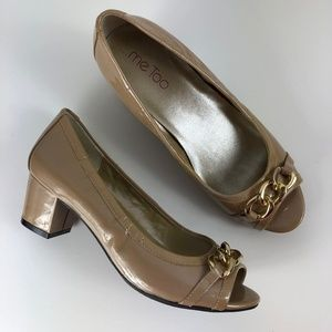"Me Too ""Barbie"" High Heels Beige Gold Size 6"